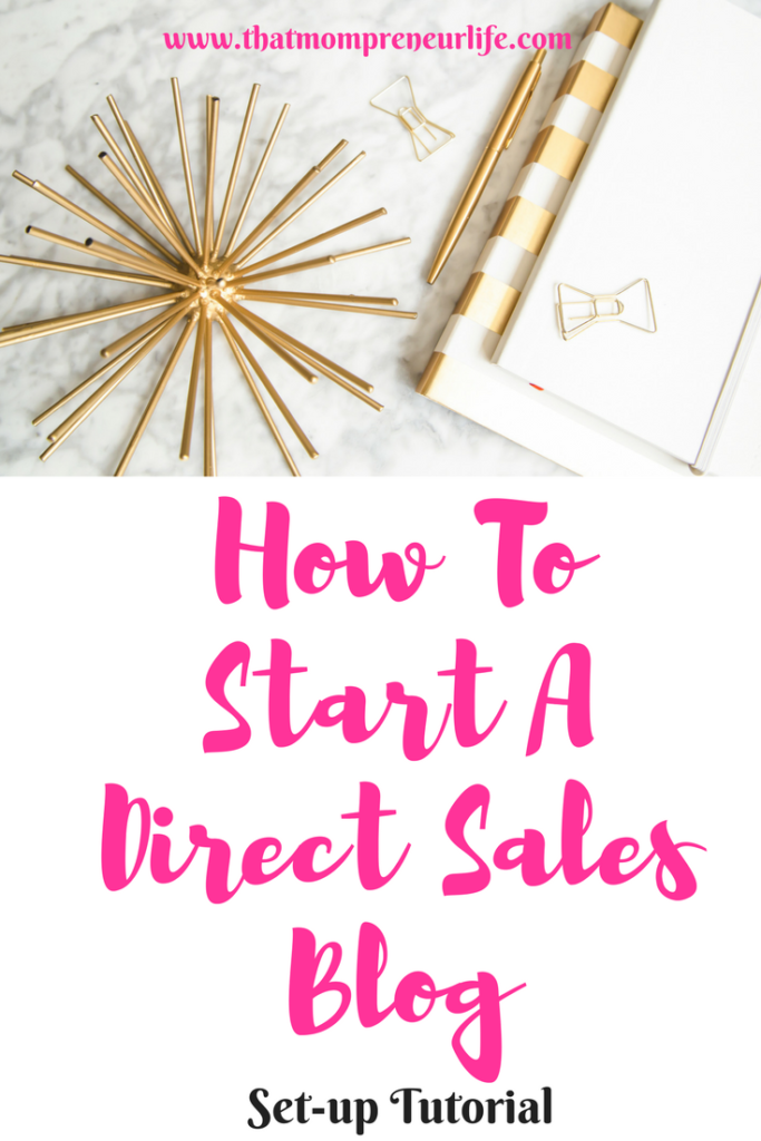 how to start a direct sales blog